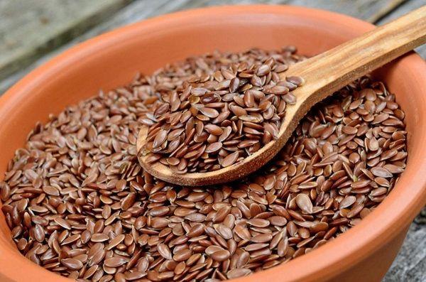 Кефир и семена льна для очистки организма