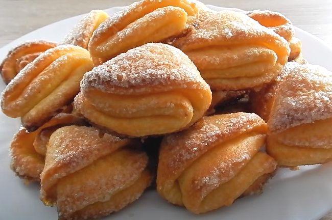 Печенье из творога Треугольники с сахаром. 4 рецепта