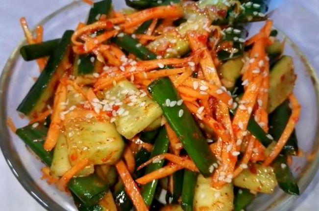 Огурцы по-корейски быстрого приготовления с соевым соусом